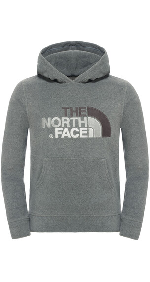 The North Face 100 Drew Peak Plv Hd Fleece Boys TNF Medium Grey Heather